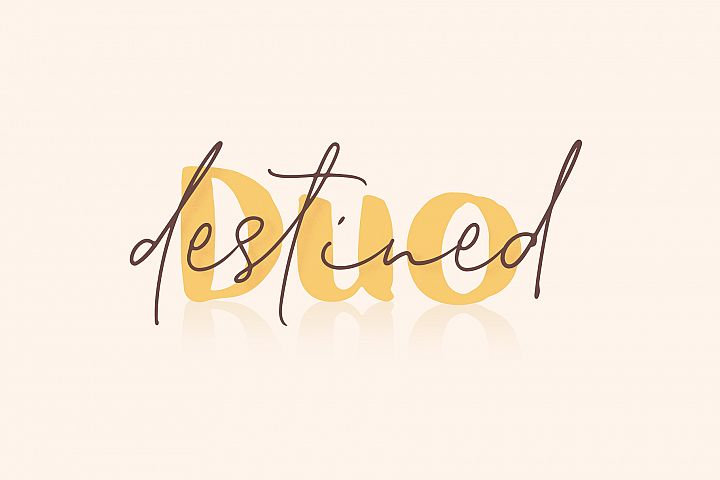 Destined Duo - Brush Sans & Signature Script