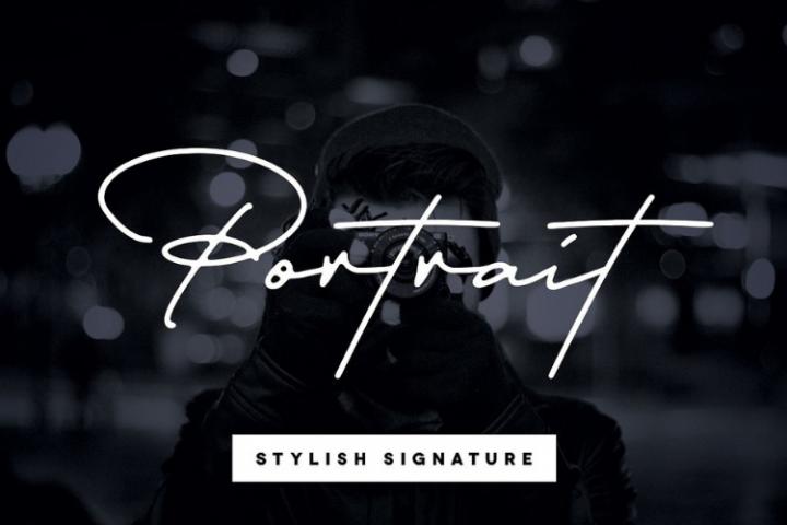 Portrait Signature Script - 6 Fonts - font bundle