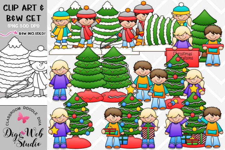 Clip Art / Illustrations - Ethan and Rachel Trim A Tree
