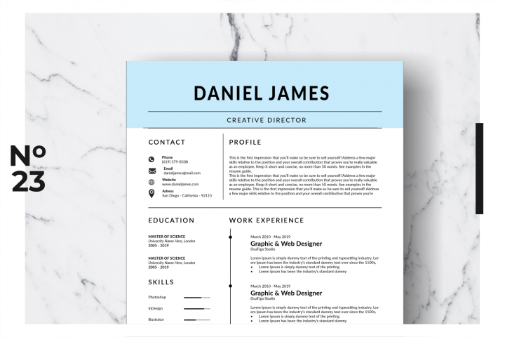 Resume Template Vol. 15