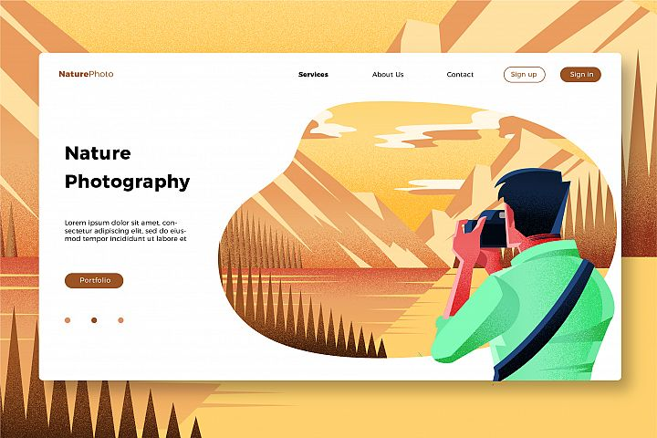 Nature Photography - Banner & Landing Page