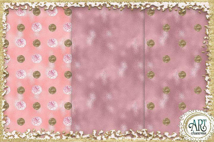 Glitter digital paper-pink,white,gold-digital textures JPEG example 2