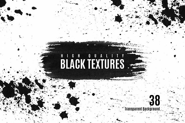 Watercolor black textures background clip art