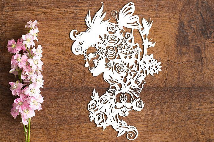 Dia De Los Muertos - Paper Cutting Template