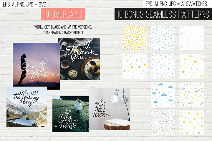 10 overlays, cards and tags example 1