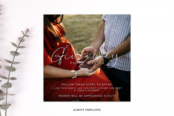 Giveaway Photo Session Template PM016