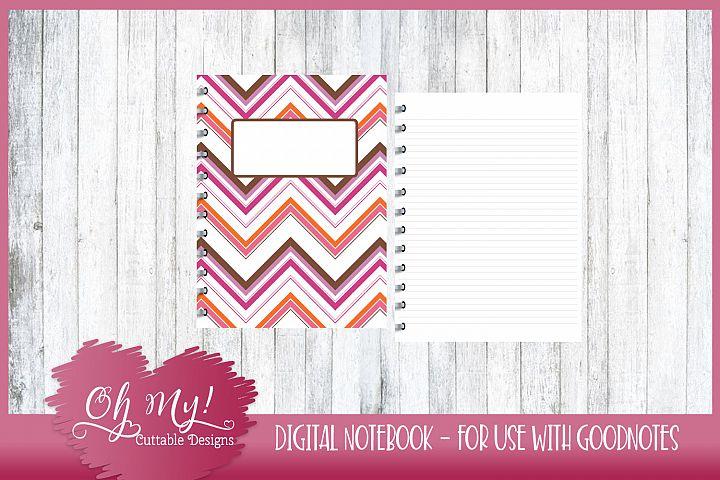 Sweet N Sassy Chevron Digital Notebook for iPad GoodNotes