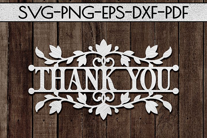 Thank You 3 Papercut Template, Appreciation Decor SVG, PDF