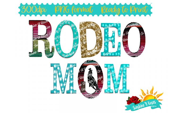 Rodeo Mom Barrel Racer Funky Junky Serape Sublimation PNG