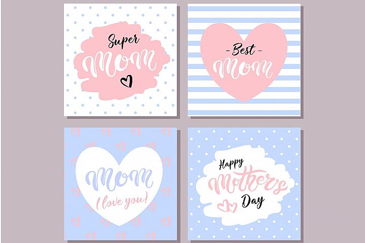 Happy Mothers Day Cards. Blue