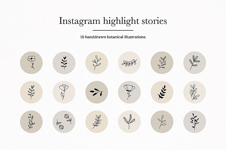Instagram Botanical Story Highlights Icons Covers