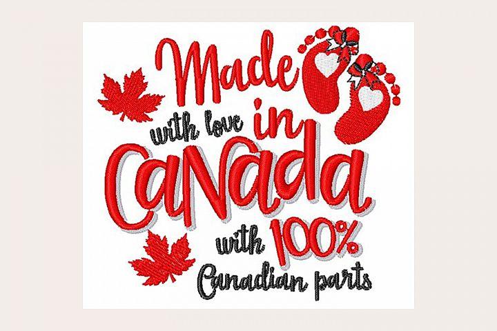 Made In Canada - Machine Embroidery Design