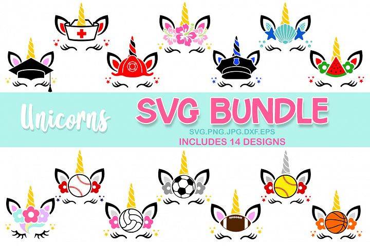 unicorns bundle svg, unicorn svg, unicorn birthday svg