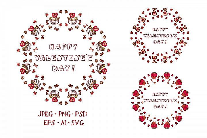Valentine Wreaths SVG EPS AI PSD PNG JPEG