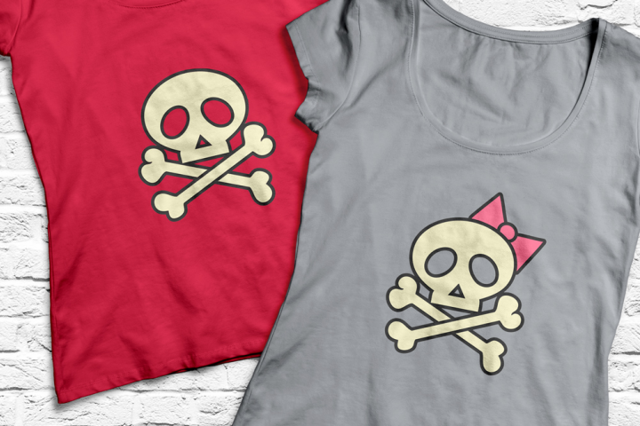 Skull and Crossbones SVG File Cutting Template