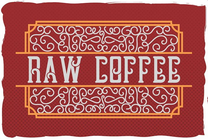 Raw Coffee handcrafted font