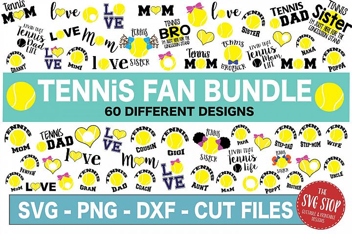 Tennis SVG Bundle - SVG, PNG, DXF