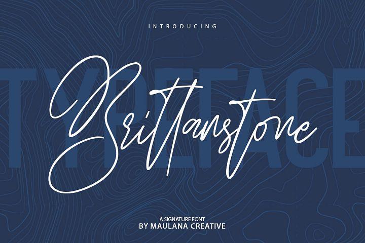Brittanstone - Signature Font Sans Serif