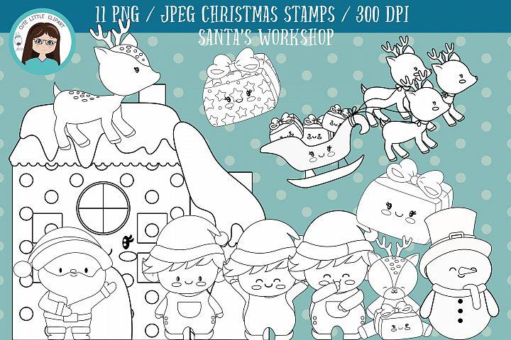 Santas Workshop christmas Stamps