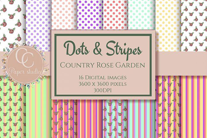 Dots & Stripes digital patterns