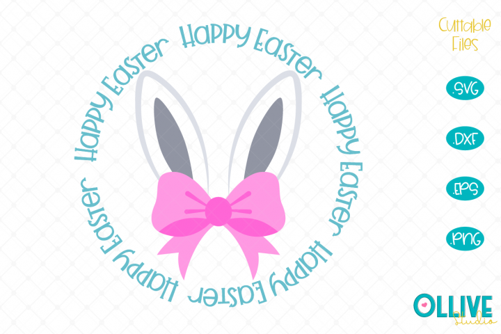Bunny Ears Happy Easter SVG