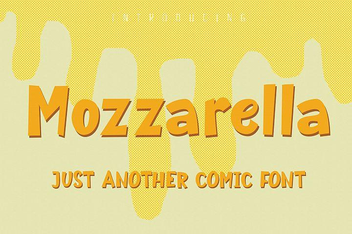 Mozzarella Comic Font