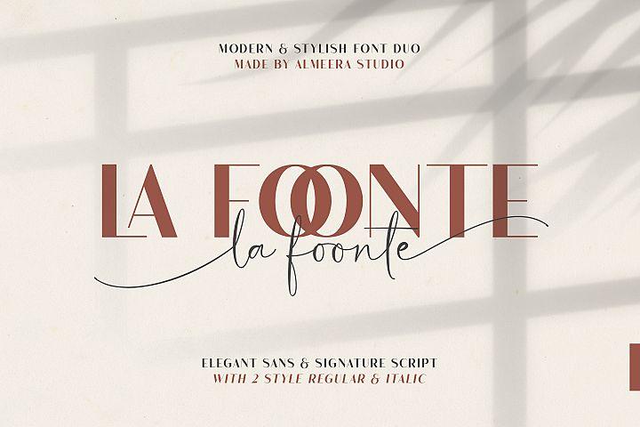 La Foonte | Sans Script Font Duo