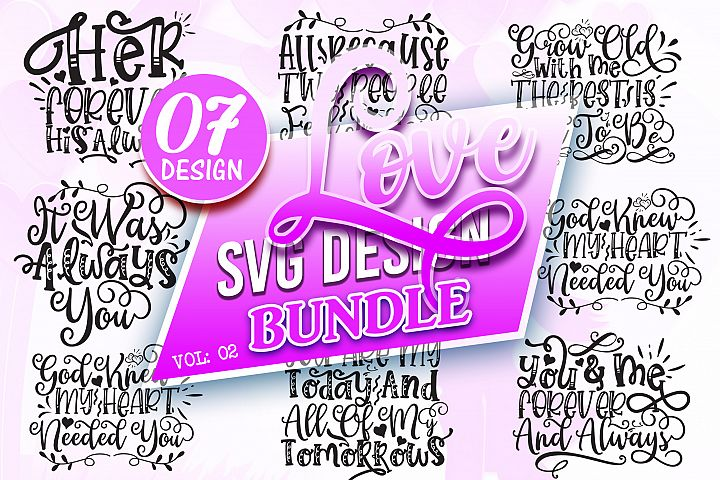 Love SVG Design Bundle Vol 2