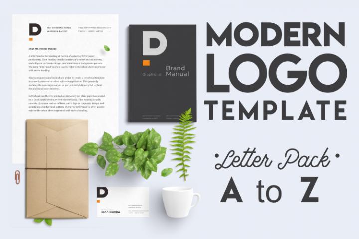 Modern Minimal Logo Template Letter Pack