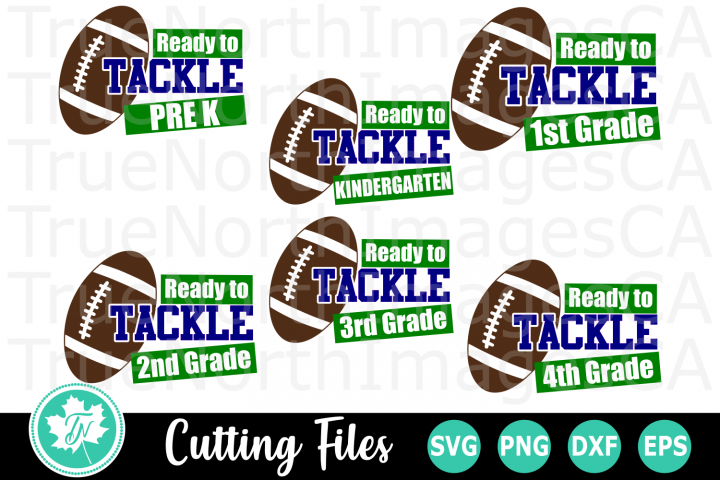 Ready to Tackle School - A School SVG Cut File Bundle