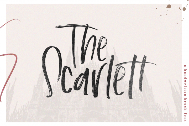 The Scarlett - A Handwritten Brush Font
