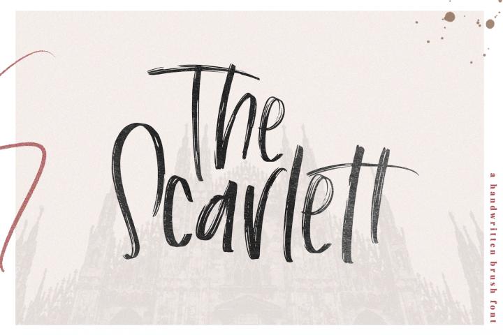 The Scarlett - A Handwritten Brush Font