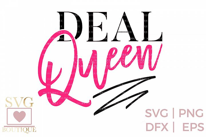 Black Friday SVG PNG DFX - Deal Queen - Crafting File