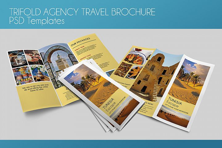 Trifold Agency Travel Brochure - PSD Template