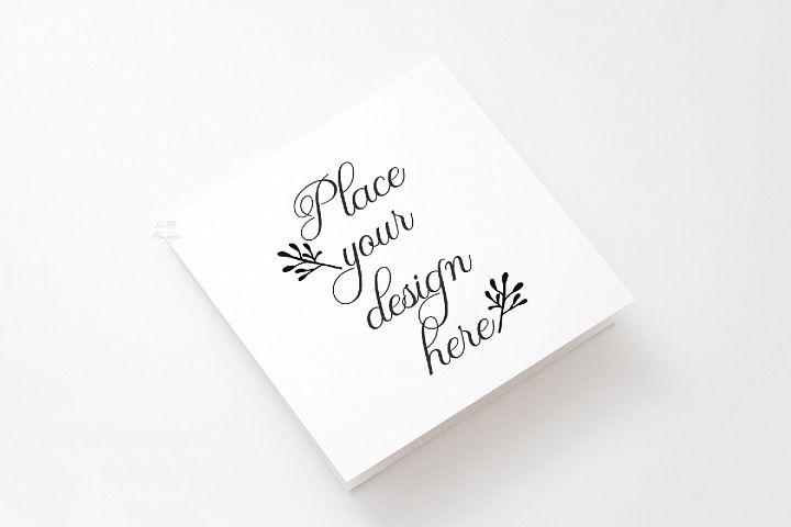 Vertical Square Greeting Card Mockup psd invitation