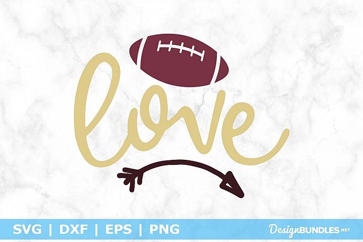 Football Love SVG File