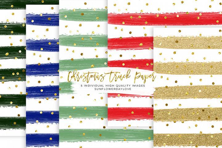 christmas paper pack, stripes christmas digital paper