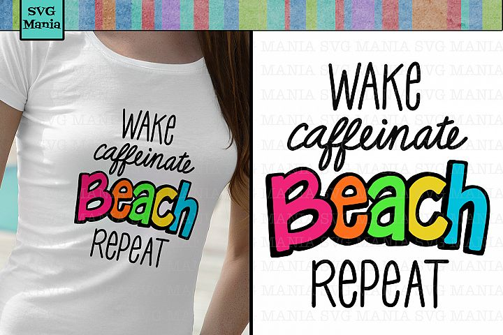 Beach|SVG File|Funny|Bright Colorful Beach Shirt SVG File