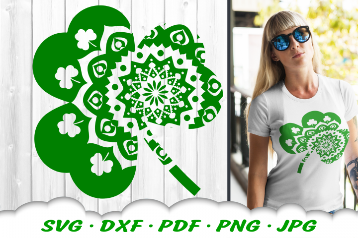 Mandala Shamrock SVG DXF Cut Files