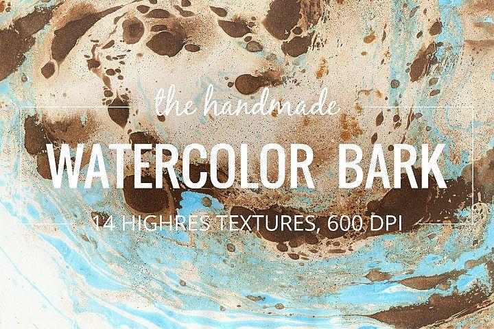 Watercolor bark paper