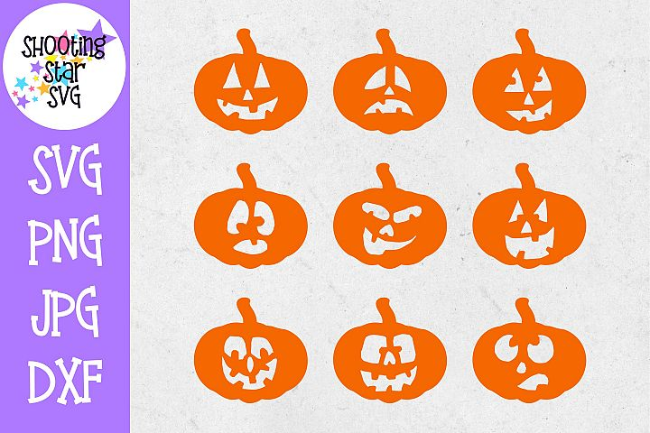 Pumpkin Faces SVG -Pumpkin SVG - Halloween SVG