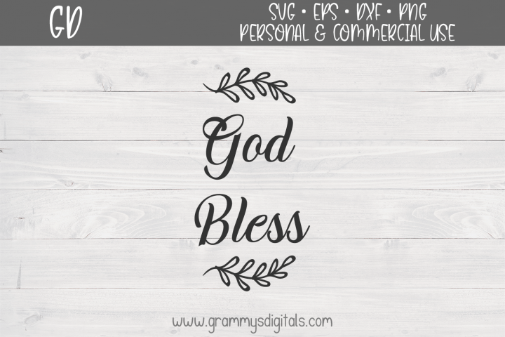 God Bless Christian Quote SVG File