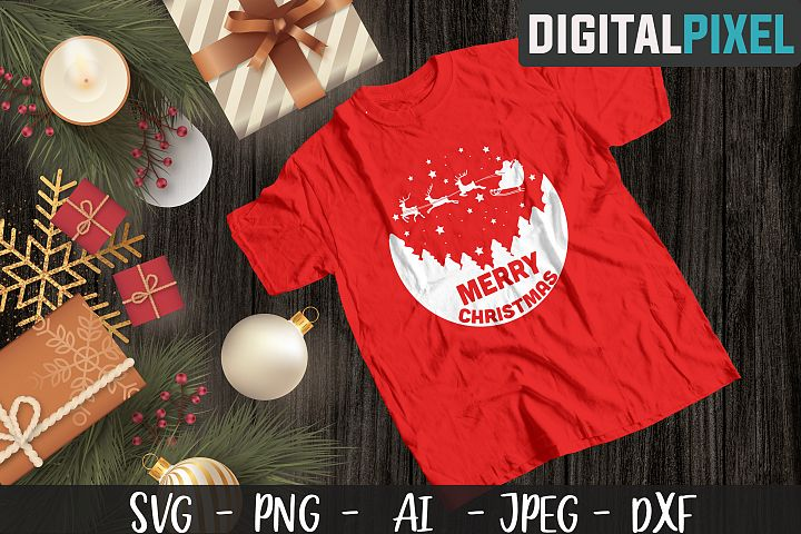 Merry Christmas SVG PNG DXF Circut Cut Crafters SVG