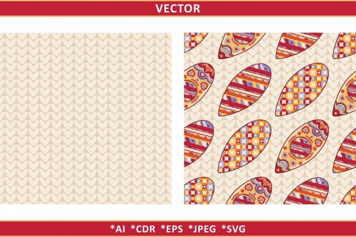 Christmas knitting seamless pattern