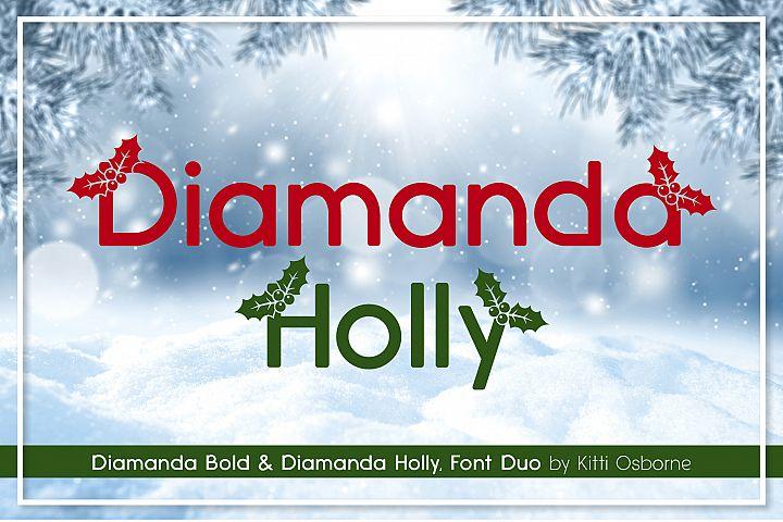 Diamanda Holly Duo Font