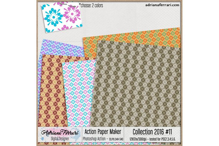 Action Paper Maker - Collection 2016 #11