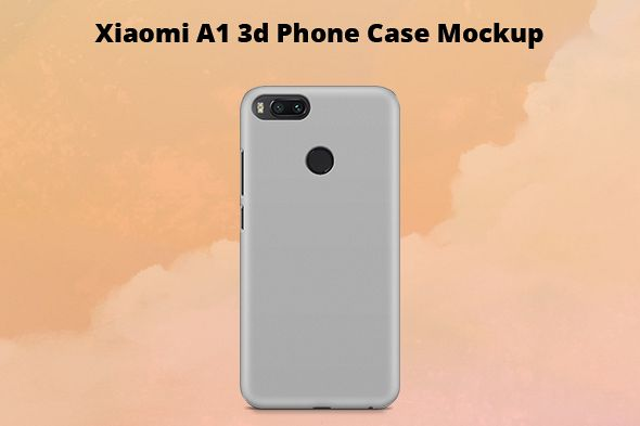 Xiaomi Mi A1 3d Case Mockup Back View