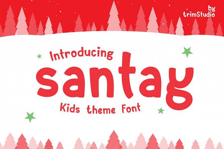 Santay - Bold Christmas Font
