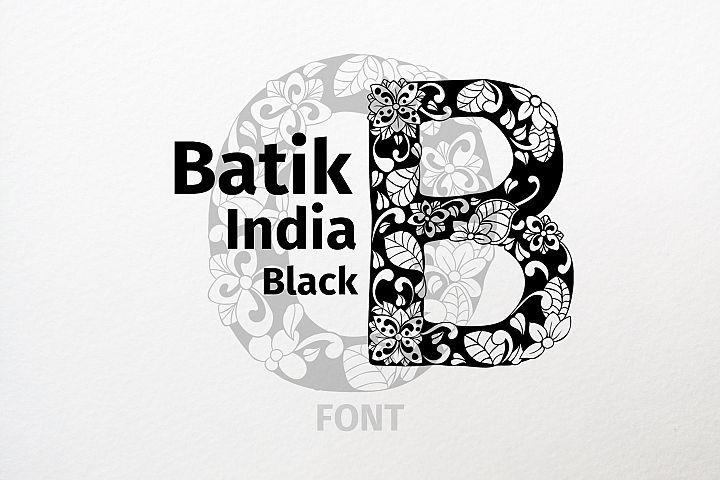 Batik India Black Font