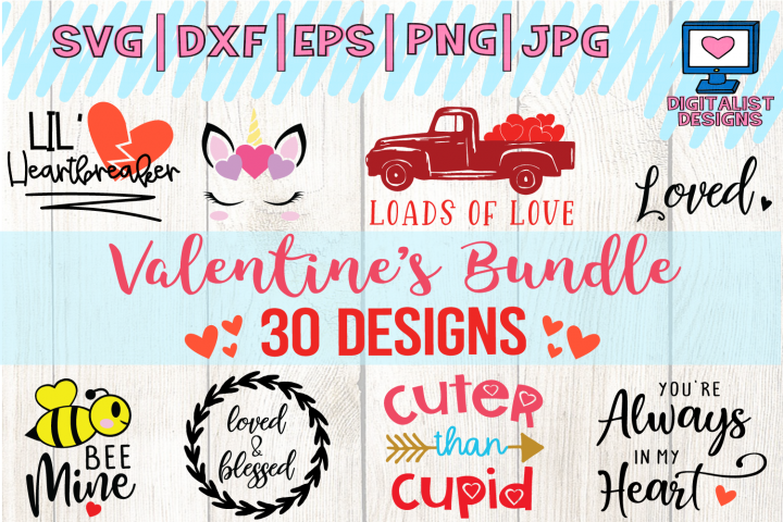 Valentines Day Bundle - 30 SVG Designs